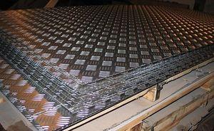 Лист алюминиевый рифленый 2х1200х3000мм (Квинтет) ТУ 1-801--20-2008