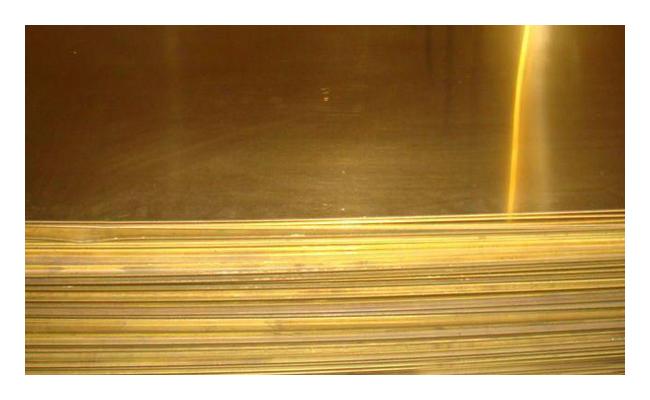 Лист латунный 50х600х1500мм ЛС63